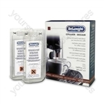 Delonghi entkalker descaler for coffee machines 2 x 100ML bottles