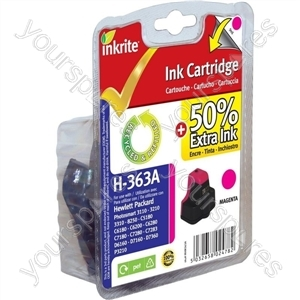 Inkrite NG Ink Cartridges (HP 363) for HP Photosmart 3210/3310/6100/7100/8250 - C8772E Magenta