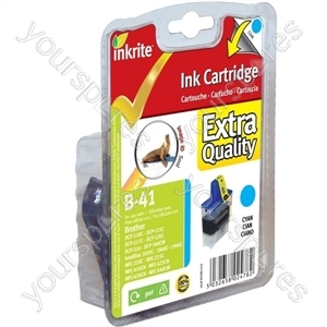 Inkrite NG Printer Ink for Brother MFC 210C 420CN 3240C - LC41 LC47 LC900 Cyan (Seal)