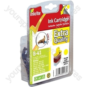 Inkrite NG Printer Ink for Brother MFC 210C 420CN 3240C - LC41 LC47 LC900 Yellow (Seal)