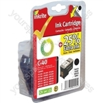 Canon Pixma MP150 NG Ink Cartridges (PG-40) for ip1200 1300 1600 1700 2200 MP150 170 450 - PG40 Black