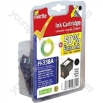 Inkrite NG Ink Cartridges (HP 338) for HP PSC 1500 1610 Deskjet 5740 Photosmart C3180 - C8765E Blk