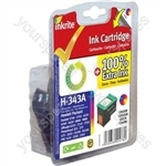 Inkrite NG Ink Cartridges (HP 343) for HP PSC 1500 1610 Deskjet 5740 Photosmart C3180 - C8766E Clr