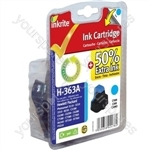 Inkrite NG Ink Cartridges (HP 363) for HP Photosmart 3210/3310/6100/7100/8250 - C8771E Cyan