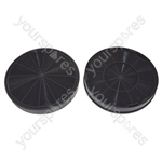 Indesit Type F196 Carbon Charcoal Cooker Hood Filter Pack of 2