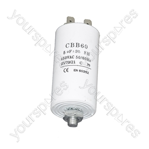 Universal 5UF Microfarad Appliance Motor Start Run Capacitor
