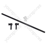 Black Universal Cut To Size Oven Cooker Grill Door Handle With Fixing Kit