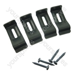 Electrolux Hob Fixing Kit - 4 Brackets + 4 Screws