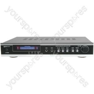 KA-36 AV/Karaoke Stereo Amplifier, Black/Silver
