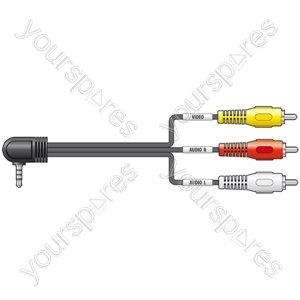 Camcorder lead, 3.5mm plug, 2.0m - bulk