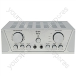 Universal stereo karaoke amplifier - silver