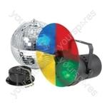 (EU version) Disco light set 3 with 20cm mirrorball