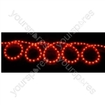 (UK version) Static rope light set - 10m, Red