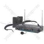 VHF dual neckband wireless system - 197.32 + 200.18MHz