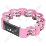 Flower tambourine - pink