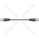 DMX lead, 3-pin XLR plug to 3-pin XLR socket - 3.0m