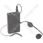 VHF NECKBAND AND BELTPACK FOR QR PA UNITS