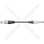 XLRF to 6.3mm MONO JACK PLUG LEADS