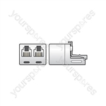 US19 Double adaptor 6P4C - blister