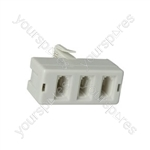 H006 Triple phone adaptor - blister