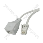 H003B Telephone extension lead, 10m - bulk