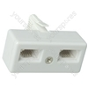 H007 Telephone double adaptor - blister