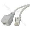 H004 Telephone extension lead, 15m - blister