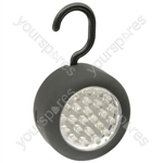 24 LED Round Work Light With Hook, Box of 12pcs