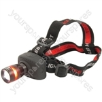 3W Cree® LED Headlight Rubberised Body