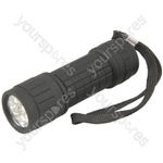9LED Ruberised Flashlight