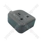 MSC46B 1 gang rubber socket, black