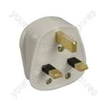 UK mains plug, 5A fuse, black
