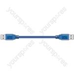 ITX201 USB A plug to USB A plug, 1.8m - Blister