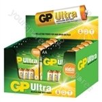 GP Ultra Alkaline Battery POS Box AA