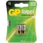 Alkaline batteries, N, 1.5V, packed 2 /blister