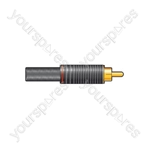 Gold plated, teflon insulated RCA plugs, 1 Red & 1 White
