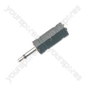 WE1183B Adaptor 3.5mm mono plug to 3.5mm stereo socket