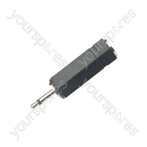Adaptor 2.5mm mono plug to 3.5mm stereo socket