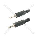 3.5mm stereo plug, plastic
