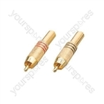 Gold plated RCA plug, 1 Red & 1 Black blister packed