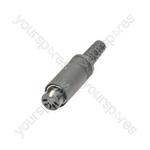 DIN in-line socket, 5-pin (180°)