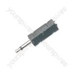 WE1183B Adaptor 3.5mm mono plug to 3.5mm stereo socket