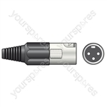 XLR plug, short, 3-pin blister packed