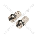 STV19F F connector twist on for RG6 and 100 type cable, Seal Bag 2pc