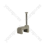 CF610G flat cable clips 6 x 10mm, grey - box of 100