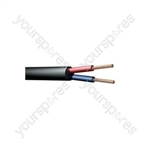 100V Line Speaker Cable, 2 x 189/0.1mm, 15A, Black, 100m